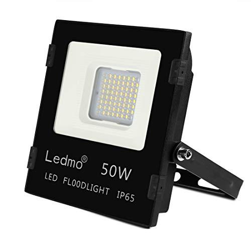 Faretto LED Esterno 50W Faretti Led con SMD3030 4500LM LED Chips IP65Impermeabile Faro LED Proiettore 6000K Multiuso per Decorazione di Illuminazione in Casa Giardino