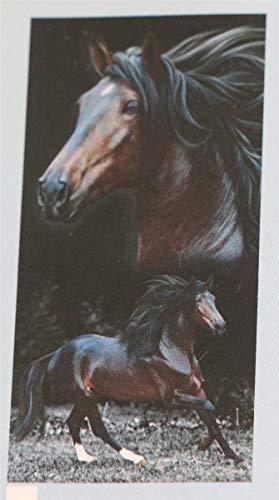 Bouton Strandtuch Liegetuch Saunatuch Duschtuch 76x152 Horses Pferde