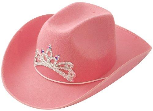 Damen rosa Cowboyhut Zubehör Outfit Kostüm Cowgirl Hut Krone