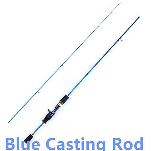 Small Lake Fishing rod UL Spinnrute 1.5-5g Gewicht 3-7lb Linie Ultralight Carbon-Köder Angel, Himmelblau, 1,8 m Lure -
