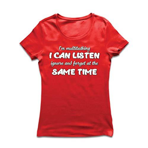 Ich Schuld Kostüm Bin - lepni.me Frauen T-Shirt Ich Bin Multitasking,Sarcastic Geschenk, lustiges Zitat (X-Large Rot Mehrfarben)