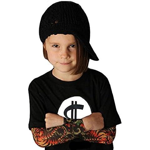 Koly Manga infantil Los niños del bebé de la impresión del tatuaje larga camiseta tops Ropa (110cm)