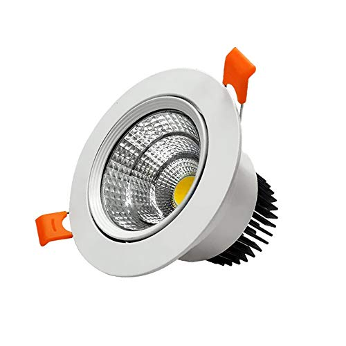 Modenny Antiniebla COB Luz de Techo Proyector Empotrable Downlight LED Ultra Brillante...