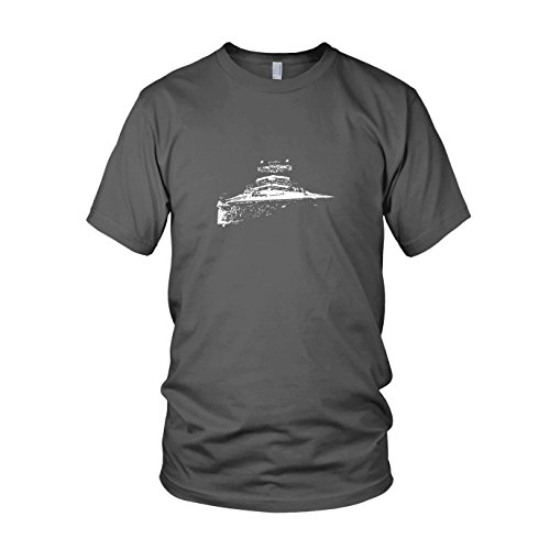 SW: Sternenzerstörer - Herren T-Shirt, Größe: M, Farbe: grau (Prinzessin Leia Jabba The Hutt Kostüm)