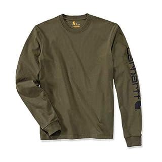 Carhartt Workwear EK231 Longsleeve Logo Langarm Shirt 100% Baumwolle - Farbe: Army Green - Größe: L