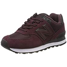 New Balance Damen 574v2 Sneaker, Rot (Red/Black Red/Black), 35 EU