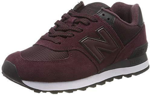 New Balance Damen 574v2 Sneaker, Rot Red/Black, 39 EU