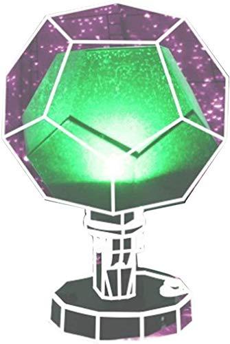iSunday Nachtlicht Projektor, 60000 Stars Sternklar Sky Projektor Licht DIY Montage Heim Planetarium Lampe für Schlafzimmer - B DREI Band Fernbedienung (Rotierende)