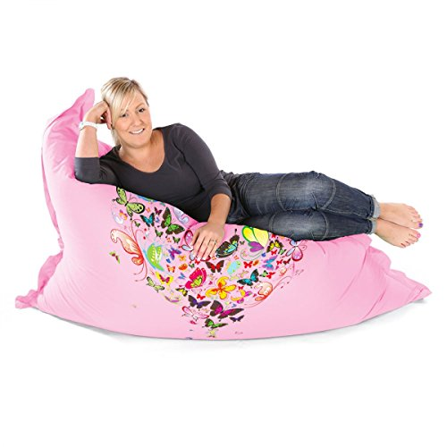 rucomfybeanbags Schmetterling Love Soft Squarbie Sitzsack Erwachsene Sitzsack–Baby...