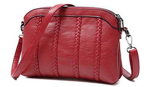 Borsa A Tracolla In Pelle Da Donna Elegante Borsa A Tracolla Moda Borsa Messenger Borsa A Tracolla Delle Donne (nero) Red