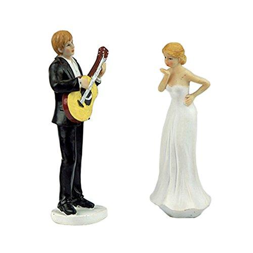 color blanco roto Figura para tarta de boda pareja de novios de la mano Mopec Pop /& Fun 21,5 cm