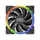 Occitop Dual Halo CPU-Kühler RGB Kühlkörper Kühlkörper Smart PWM Kühler PC Gehäuselüfter