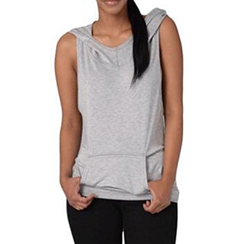 Juleya Fitness T-shirt de sport Cross Backless Yoga Tops Gris