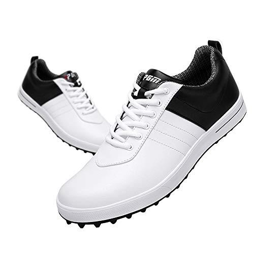 Scarpe da Golf da Uomo, Scarpe da Golf Impermeabili, Leggere e Traspiranti Senza Chiodi Scarpe da Allenamento da Golf Antiscivolo Resistenti all'Usura,Scarpe Casual Comode