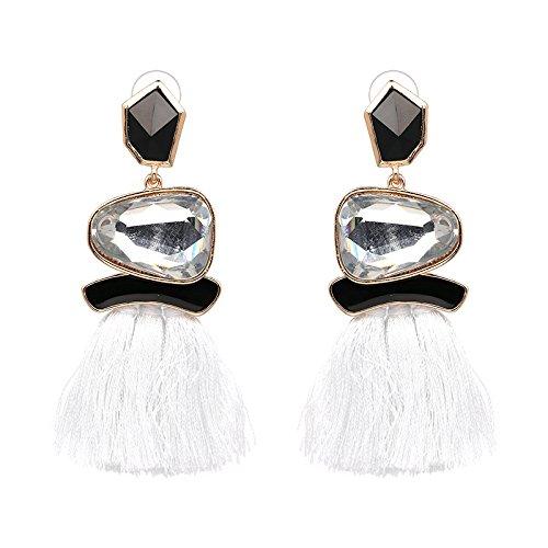Ohrringe baumeln Ohrringe Erklärung Ohrringe für Frauen Mädchen Prom Casual Festliche Anlässe (Farbe : Weiß) ()