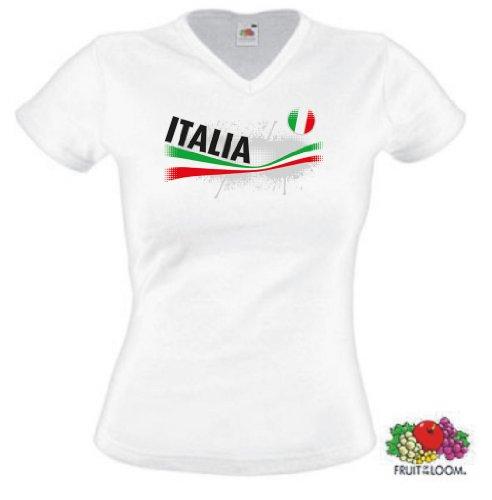 world-of-shirt Damen T-Shirt Italia/Italien Vintage|XS