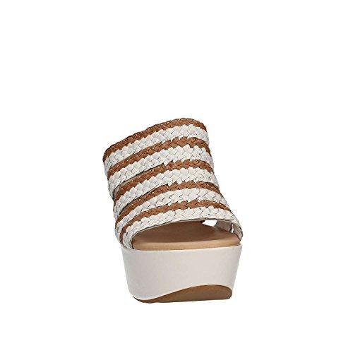 GRACE SHOES Treccia 6 F4S Sandales à Talons Hauts Femmes Blanc