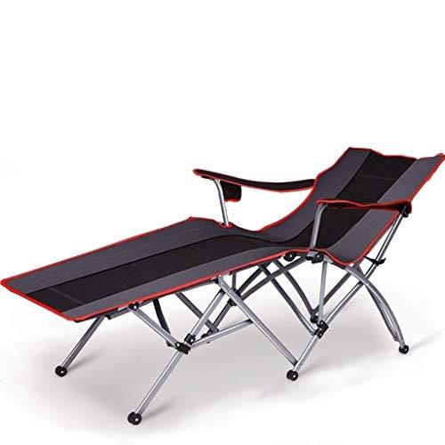 XSWZAQ Klappstuhl Office Nap Chair Mittagspause Klappbett Balkon Stuhl Lazy Lounge Chair Happy Beach Rückenlehne