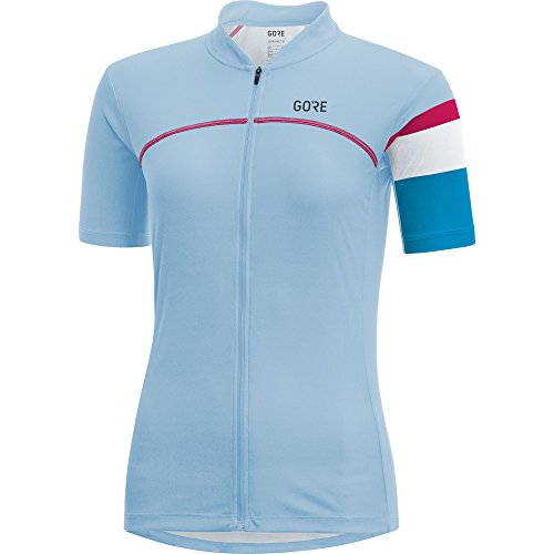 GORE BIKE WEAR Malla Mujer, Ciclismo en carretera, Manga corta, Traspirable, GORE Selected Fabrics, Power Lady Jersey, Talla 34, Rosa, SPOWLA130002