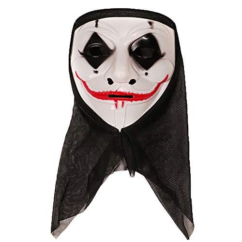 Xiton 1 STÜCK Ghosts Skull Mask Vollmaske Ghost Hoods Cosplay Halloween Kostüm Outdoor-aktivitäten Party Horror Cosplay Requisiten (Red Lips Ghost) (Der Red Hood Kostüm)