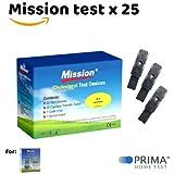 Cholesterin Teststreifen für Mission 3-in-1 Messgerät (25 stk.)