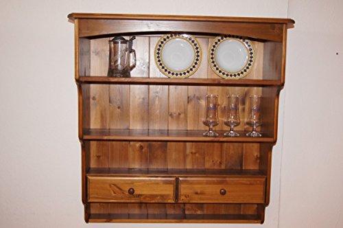 Charme Vertriebs GmbH Wandregal Wandboard Hängeregal Tellerregal Landhaus Kiefer massiv antik