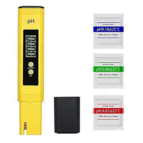 Erwei Digital pH Wert Meter Messgerät Messer Tester mit 0,00-14,00 pH Messbereich für Wasser, Aquarium, Pools, Schwimmbad, Labor