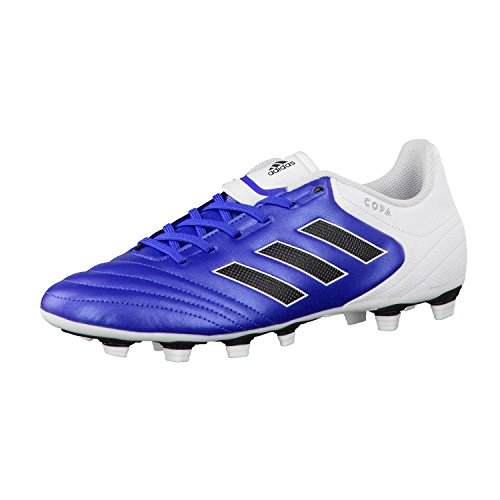 adidas Copa 17.4 Fxg, Chaussures de Football Homme, Blanc/Gris/Gris Clair blau / weiß / schwarz