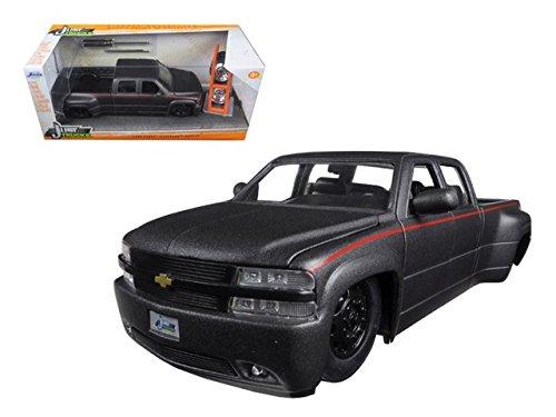 1999-chevrolet-silverado-dooley-pickup-truck-matt-grey-just-trucks-with-extra-wheels-1-24-by-jada-97
