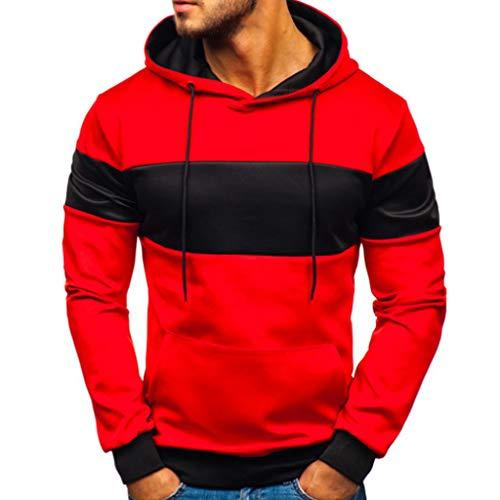 Qinpin Herren 3D Sweatshirts mit Kapuze Weihnachten Herbst Winter Hemd Langarm Top Jumper Shirt Übergröße Pullover Casual Elastisch Hoodie Sportshirts Sweatshirt Longstrickjacke für Fleece