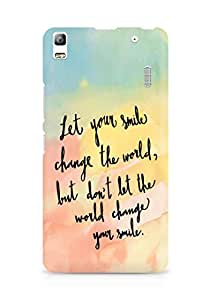 AMEZ let your smile change the world Back Cover For Lenovo K3 Note