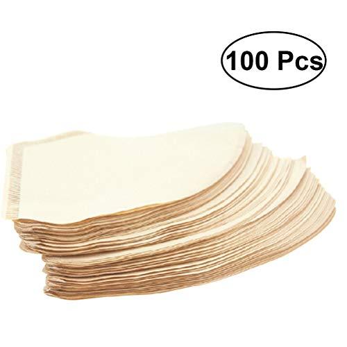 OUNONA Einweg Kaffeefilter 100pcs ungebleichte Papierfilter für Americano Espresso