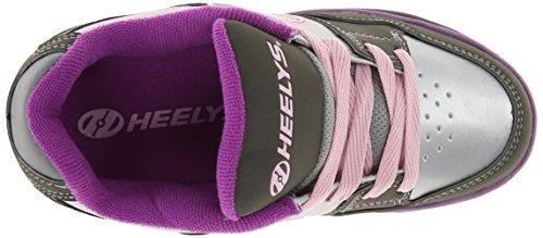 Heelys FLOW Schuh 2015 charcoal/silver/purple Gris-violet