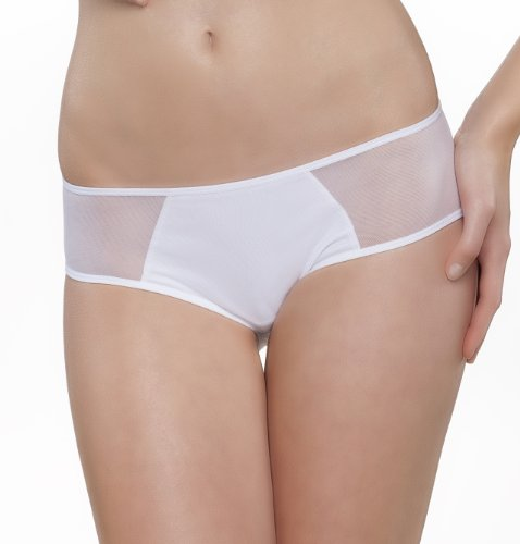 Passionata Damen Hipster Miss Joy-Shorty, Weiß (Weiß 10), 36 - Nylon-weißen Bikini Panty