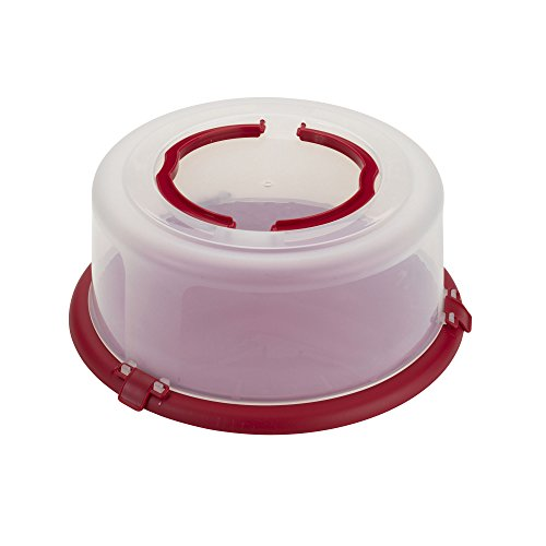 good Cook bake-n-take rund Kuchen Transportbox mit Griff, 30,5cm rot