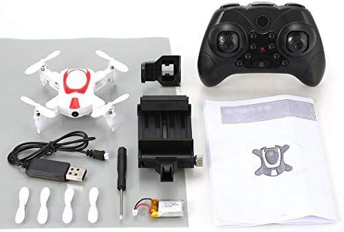 RC Mini Drone, gyro 6 6 6 axes de la caméra 0.3MP 6 axes du drone wifi UAV Wifi, Basculement de 4 LED 3D, Maintien de l'altitude, Commande vocale, Mode sans tête, Capteur de gravité pour enfants débutants | Couleur Rapide  a3ab55
