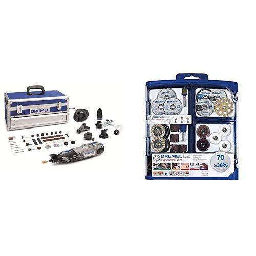 Dremel Akku Multifunktionswerkzeug 8220-5/65 (Platin Edition, 2x 2,0 Ah Akku, Ladegerät, 65tlg...
