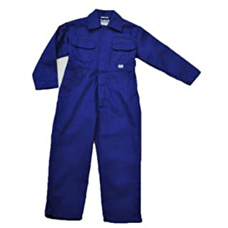 Children's, Kids, Boilersuit, Coverall, Overall, Boys, Girls (Size 24 age 3-4 years, Royal Blue)
