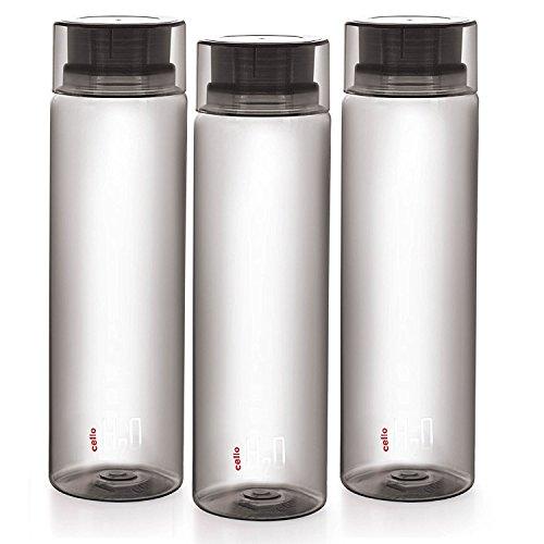 Cello H2O Unbreakable Bottle , 1 Litre , set of 3 Grey
