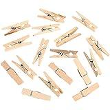 ULTNICE 200pcs 2,5CM pinzas madera pinzas pasadores sujetadores para fotografías