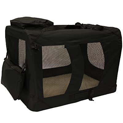 Mool Lightweight Fabric Pet Carrier Crate with Fleece Mat and Food Bag