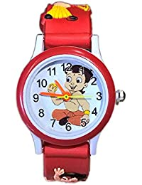 Opendeal Analogue White Dial Children's Chhota Bheem Watch - Od-W192