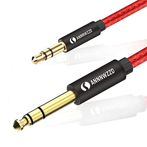 LinkinPerk 3,5 mm auf 6,35 mm Stereo-Klinke stecker kabel, 3,5 AUX Audio kabel auf 6,35 Kabel, für iPod Laptop, Heimkino-Geräte und Verstärker etc 3.5 Mm Audio Kabel Ipod