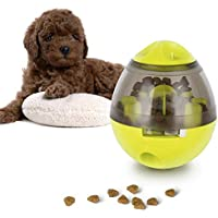 Comida para Perros Ball, Lesfit Snack Food Dispenser Slow Eating Alimentador de Interactivo IQ Treat Juguete para Perros y Gatos (Verde)