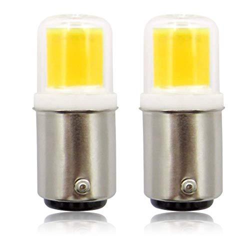Lampadine LED BA15D DC 12 V 4 W 30 W alogena di ricambio a doppio contatto a baionetta SBC B15D bianco freddo 6000 K per illuminazione interna camper, confezione da 2