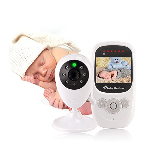 "Newest Version Video Baby Monitor – EtekStorm(2018 New Type)With 2.4""LCD Display,Digital Camera,Night Vision,Temperature Monitoring,Two Way Talk,Lullabies,Capacity Battery and Long Range. 41KBpgbPc3L"