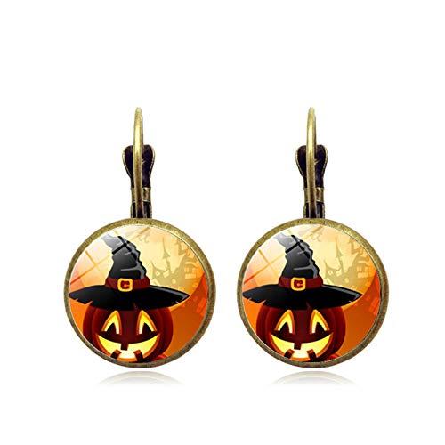 Blisfille Halloween Kürbis Zeit Edelstein Ohrringe Vintage Bronze Quaste Ohrstecker Ohrschmuck Damen Herren ()