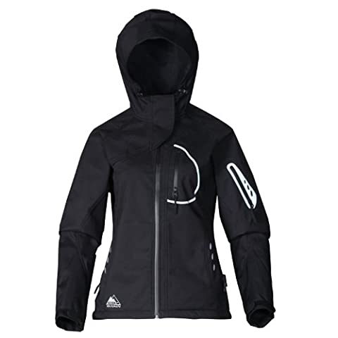 COX SWAIN 3-layer women outdoor soft shell jacket YUKI, 15.000mm water proof, 10.000mm breathable, Colour: Black, Size: L