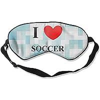 I Love Soccer 99% Eyeshade Blinders Sleeping Eye Patch Eye Mask Blindfold For Travel Insomnia Meditation preisvergleich bei billige-tabletten.eu