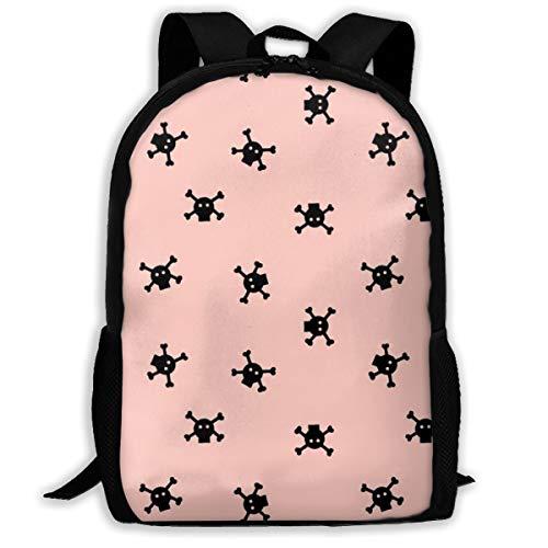 Klassischer Rucksack Bitty Skulls - Coral_8828 Reise-Laptop-Rucksack, extra großer College School Student Rucksack für Männer und Frauen -